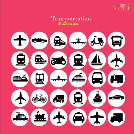 railway transport: Transport icons.transportation .logistics.logistic icon.vector illustration. Illustration