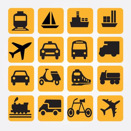Icons.transportation を転送します。 logistics.logistic icon.vector イラスト。  イラスト・ベクター素材