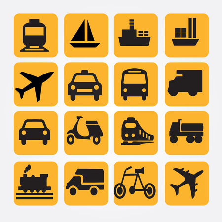 Transport icons.transportation .logistics.logistic icon.vector illustration. Ilustrace