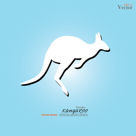 graze: Kangaroo icon vector.kangaroo.vector illustration.