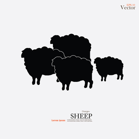 Sheep icon.sheep.vector illustration.