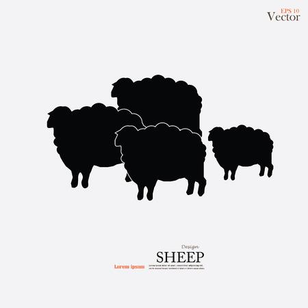 Schapen icon.sheep.vector illustratie. Stock Illustratie