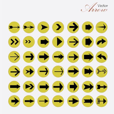 arrow icoon set.arrow ontwerp. arrow .Vector illustratie.