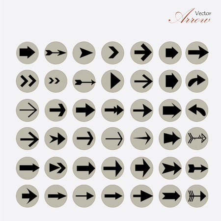 arrow icon: arrow icon set.arrow design.  arrow .vector illustration.