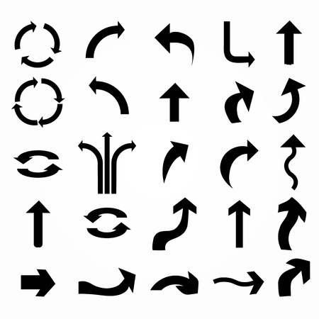 right arrow: icono de la flecha set.arrow dise�o. flecha de vector.