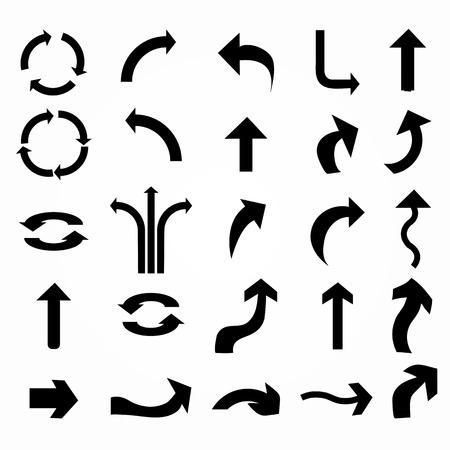 flecha: icono de la flecha set.arrow diseño. flecha de vector.