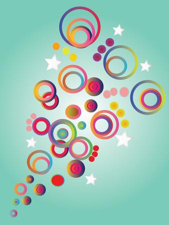 bubble background: colorful bubble background,background,pattern.vector illustration Vettoriali