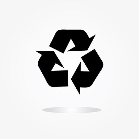 papelera de reciclaje: bin símbolo sobre fondo gris, bin icono vector, reciclar bin Vectores