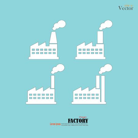 batiment industriel: Plantes d'usine de construction industrielle et ic�ne Alimentation SET.FACTORY icon.vector illustration.