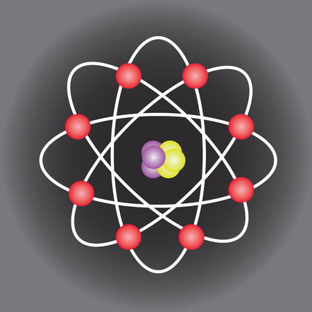 covalent: Atom structure vector
