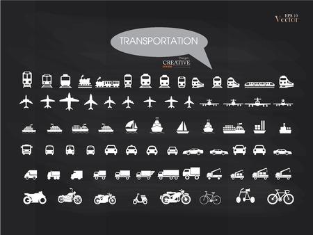motorized bicycle: Transport icons