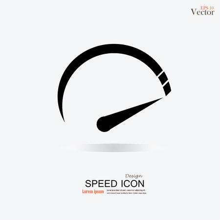 スピード メーター icon.speed sign.speed meter.vector イラスト。  イラスト・ベクター素材