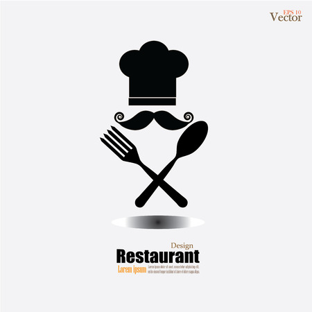 chef icon.Chef icon with spoon and fork