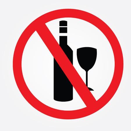 spirituous beverages: No alcohol drinks Illustration