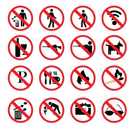 no trespassing: no hunting sign vector,no weapon sign, Stop hunting,prohibit sign Illustration