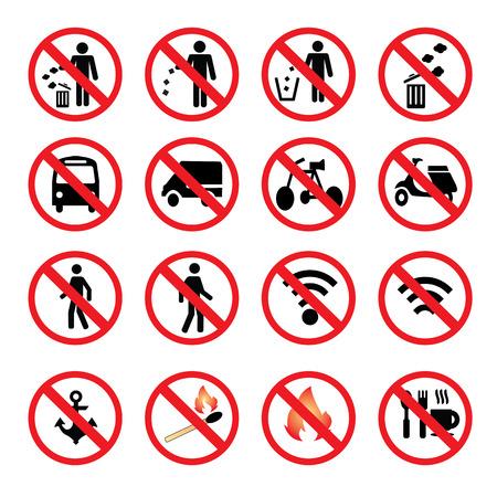 littering: No littering sign vector