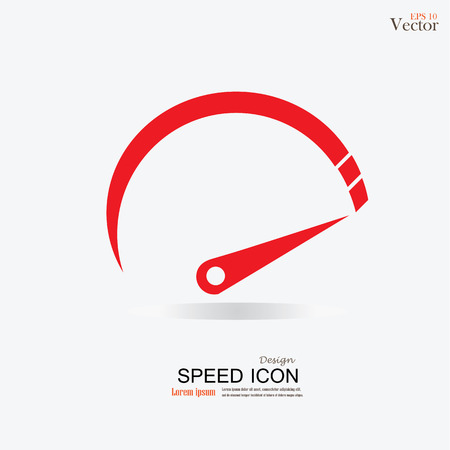 compteur de vitesse: Compteur de vitesse icon.speed sign.speed meter.vector illustration.