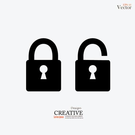 lock and unlock icon.