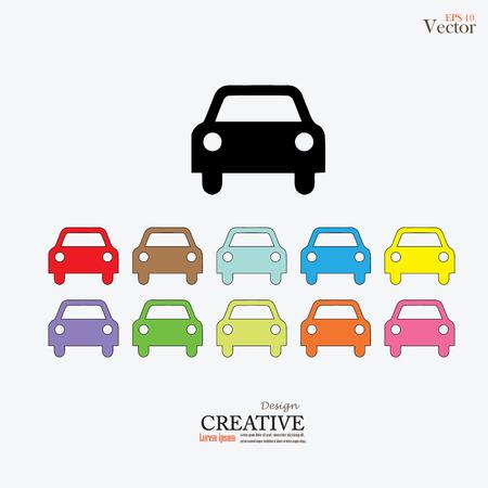 iconset: car icon.set of car icon. Transportation icon.Vector illustration. Illustration