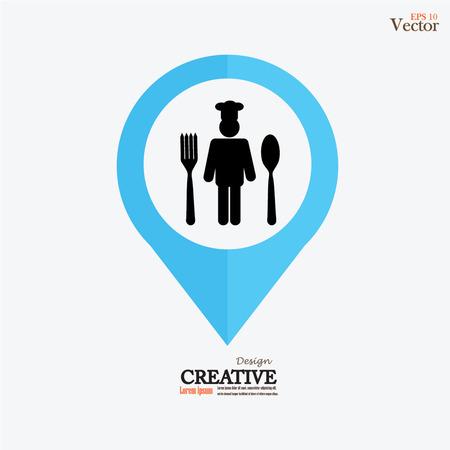 fine cuisine: Chef icon.Chef symbol.