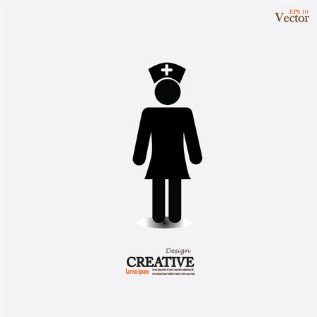 nurse icon.nurse.vector illustration.
