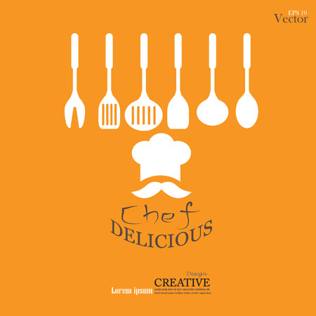 chef: Ilustración symbol.vector Chef icon.Chef.