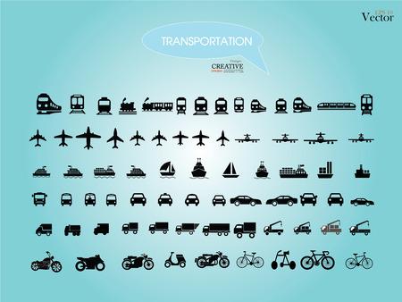 運輸: 交通運輸icons.transportation .logistics.logistic icon.vector例證。