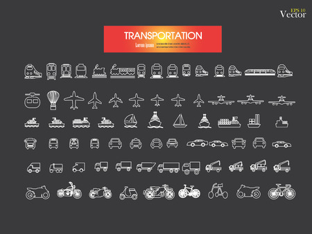 TRANSPORTE: Icons.transportation Transporte ilustraci�n icon.Vector .logistics.logistic.