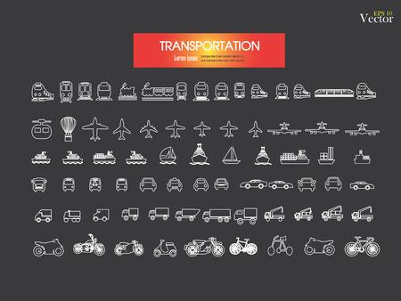 railway transportation: Transport icons.transportation .logistics.logistic icon.vector illustration. Illustration