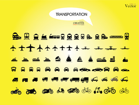 Transport icons.transportation .logistics.logistic icon.vector illustration. Illustration