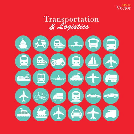 barge: Transport icons.transportation .logistics.logistic icon.vector illustration. Illustration