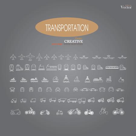 motorized bicycle: transport sketch.Transport icons.transportation .logistics.logistic icon.vector illustration.