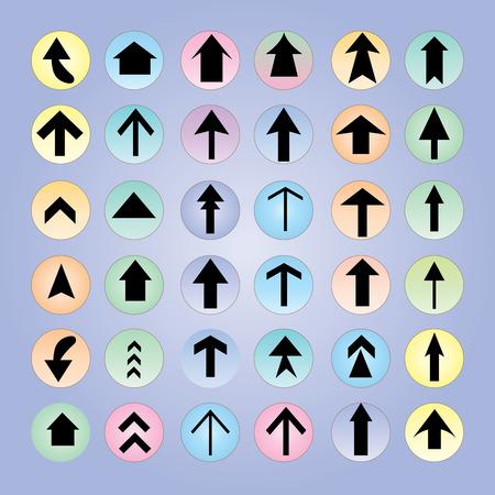 icono flecha: icono de la flecha set.arrow dise�o. flecha de vector.