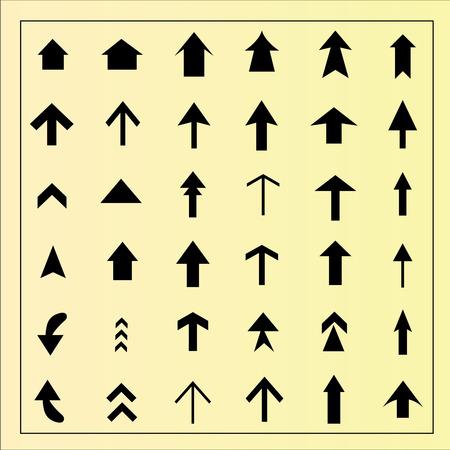 arrow icon: arrow icon set.arrow design.  arrow .vector illustration.
