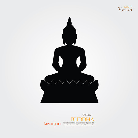thai buddha: Silhouette of Thai Buddha.buddha.vector illustration.