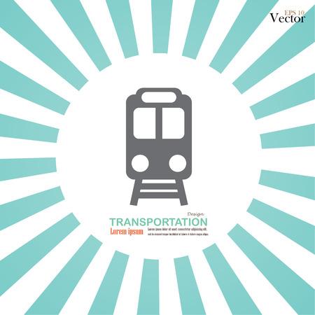 on train: Capacitar icon.train.train icono en la ilustraci�n background.vector rayos de sol.