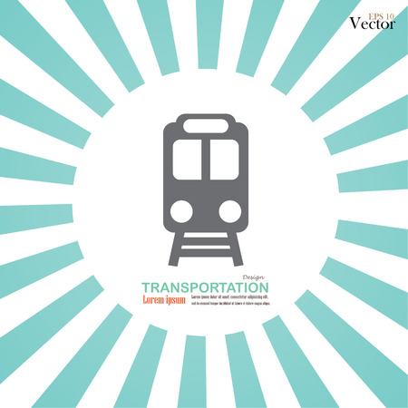 modern train: Train icon.train.train icon on sunburst background.vector illustration.