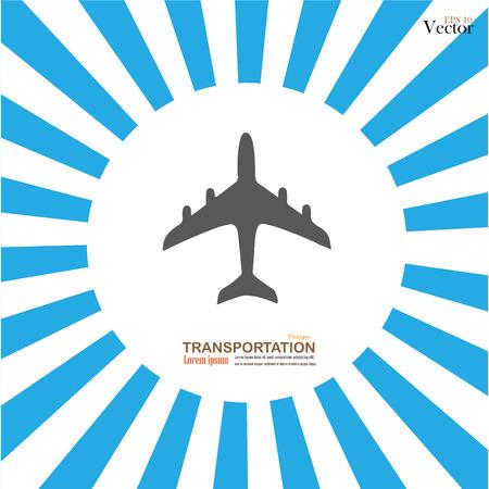 light ray: Plane icons. plane.plane icon on sunburst background. Vector illustration.