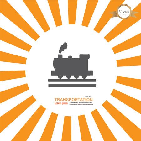 train: Train icon.train.train icon on sunburst background.vector illustration.