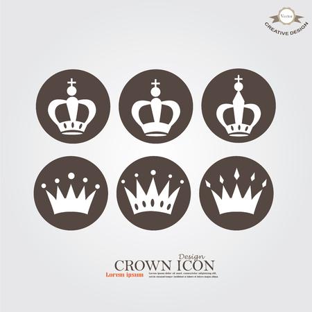 Set of Crown icon.crown.vector illustration. Stock Illustratie
