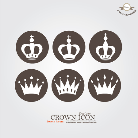 Set of Crown icon.crown.vector illustration. Illustration