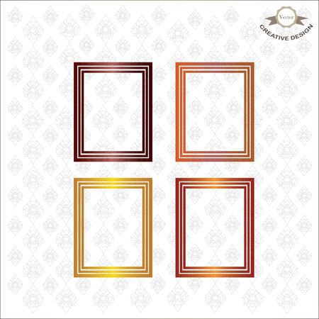 line thai: frame.Picture frame vector on line thai background.vector illustration.