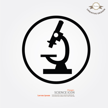 microscope icon.microscope.vector illustration.