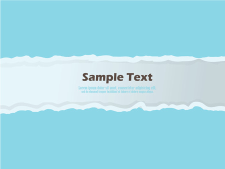 torn paper background: Torn paper background with space for text.vector illustration.