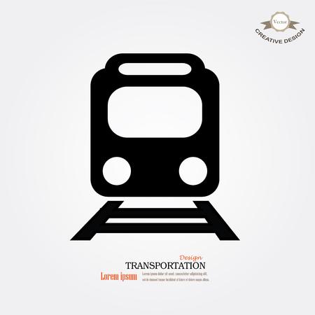 transporte: Treinar icon.train vetor no fundo cinzento .Transportar icons.transportation ilustração vetorial Ilustração