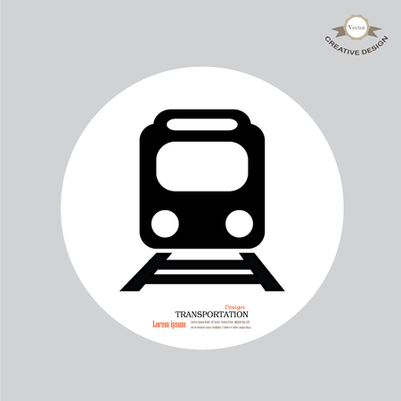old train: Train icon.train vector on gray background .Transport icons.transportation vector illustration