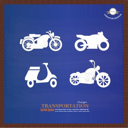 motorcycle: Motorcycle symbol ,motorcycle icon on chalkboard.motorcycle.vector illustration.