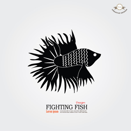 betta fish icon. Betta Fish. Dragon Fish. Fighting fish.vector illustration Illustration