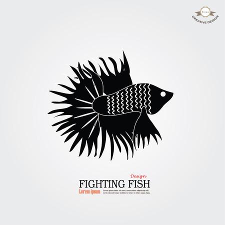 betta fish icon. Betta Fish. Dragon Fish. Fighting fish.vector illustration Illustration