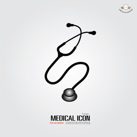 estetoscopio corazon: estetoscopio .stethoscope icono de vector. ilustración vectorial. Vectores
